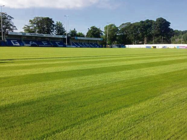 Guiseley's pitch is recovering well from its close-season work