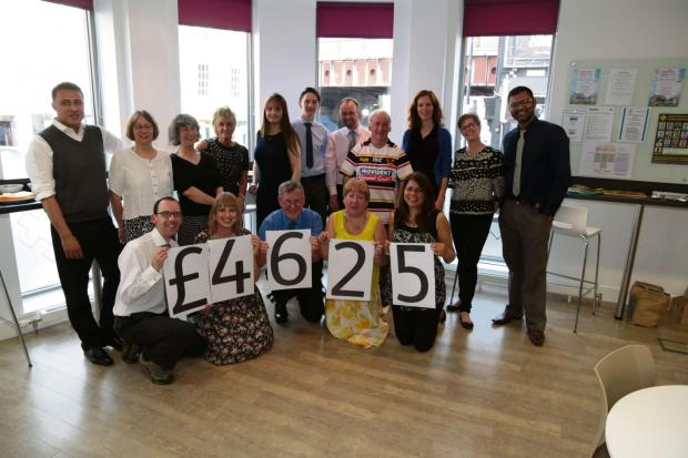 TOP TEAM:  More than £4,625 was raised by the team for Simon on the Streets