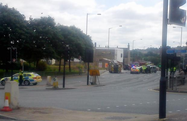 Reader picture of the crash scene by Tony Dunne
