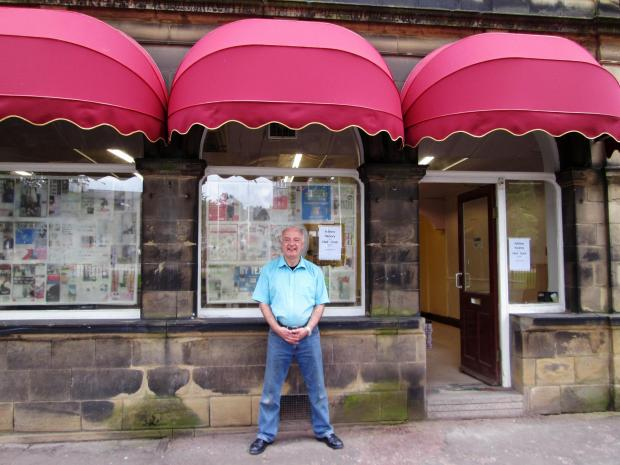 Bradford Telegraph and Argus: David Henson outside the cafe