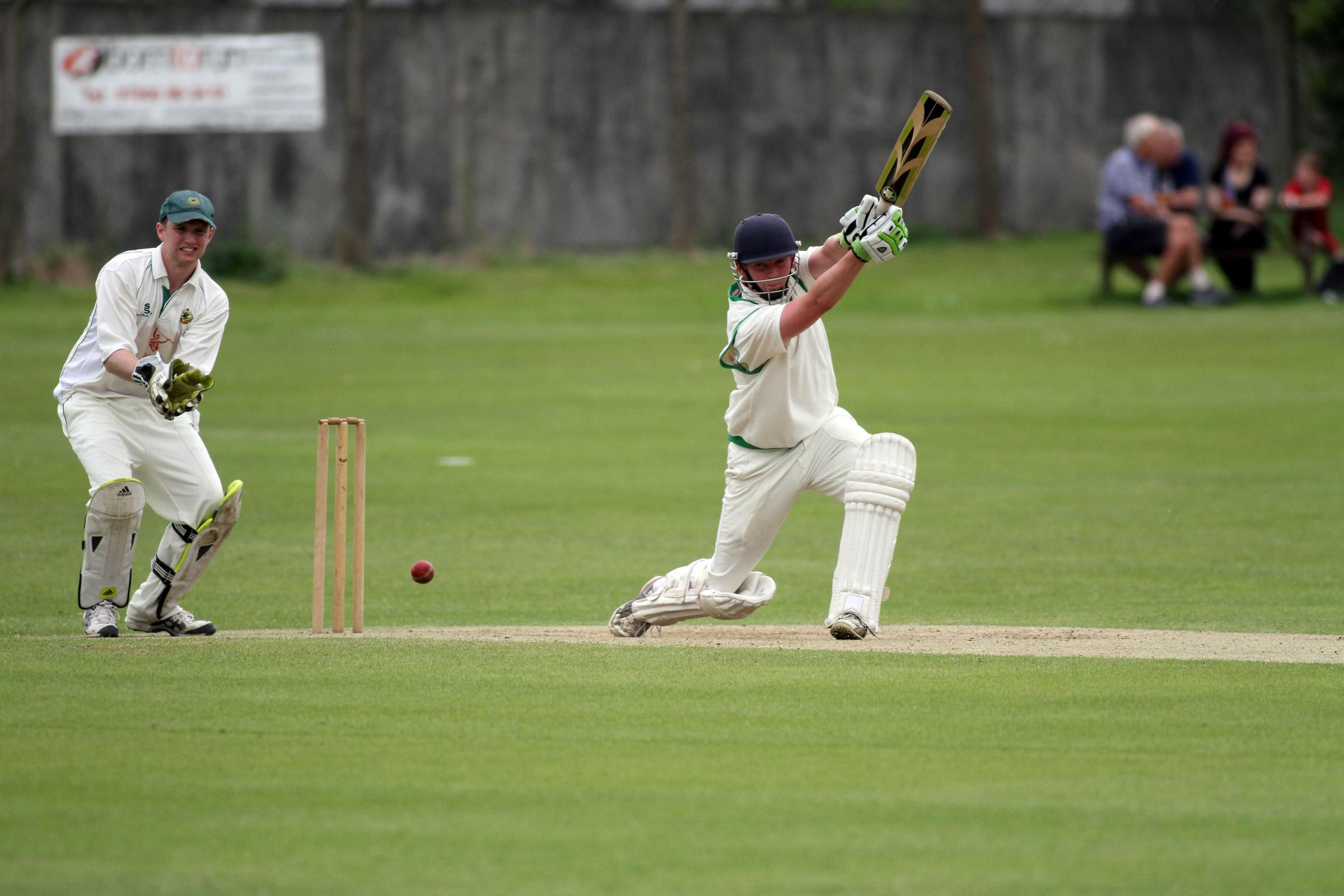 Richard Wear drives through the covers on his way  to a match-best 66 against Idle last Saturday