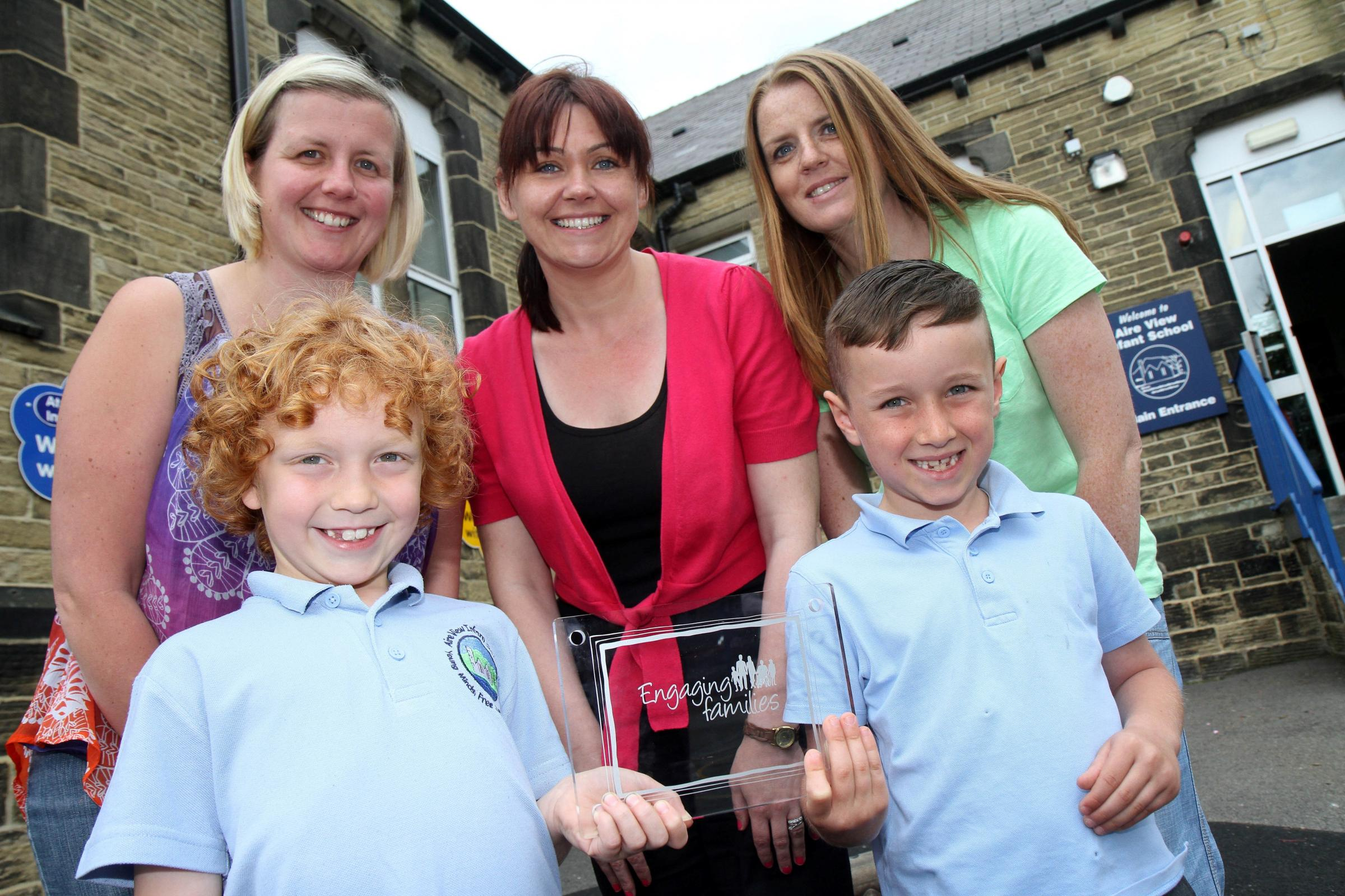 Aire View Infant School rewarded for its family engagement ethos