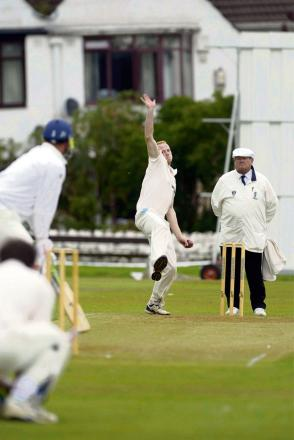 Andrew Robinson bowling for Horsforth, who will give visitors Otley a formidable test