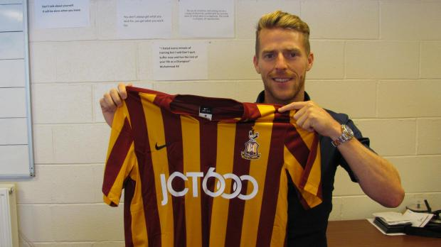 Striker Billy Clarke will officially join the Bantams on a two-year deal on July 1