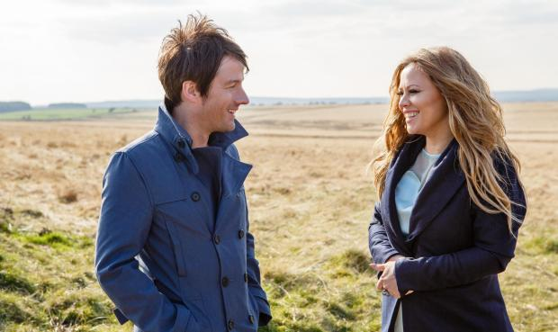 Alistair Griffin and Kimberley Walsh, who sing Tour de France anthem The Road.