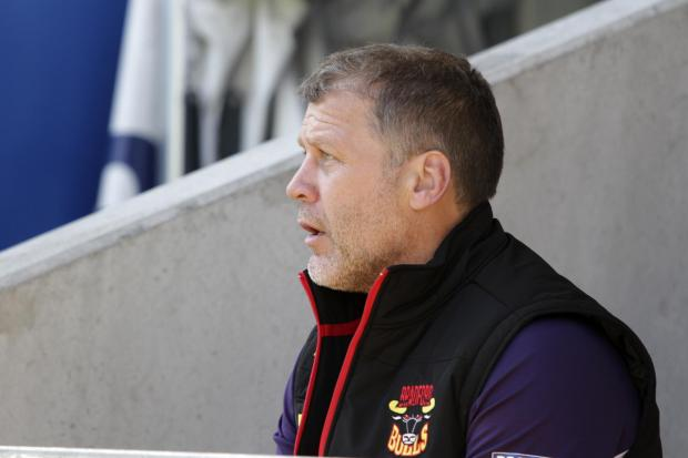 James Lowes looks on as the Bulls slip to defeat against Warrington