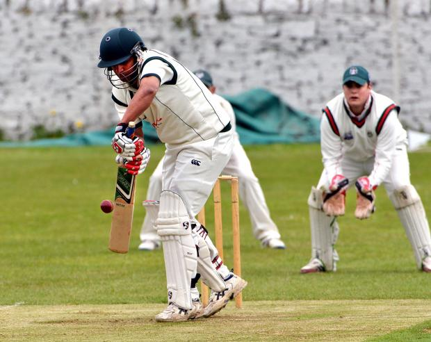 TONS OF RUNS: Hamid Khan was the star of the show for leaders Undercliffe