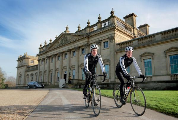 Alistair and Jonny Brownlee at Harewood House, which plays host to a three-day cycling festival this weekend