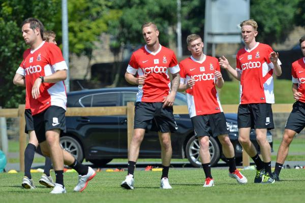 New recruit Gary Liddle at training this morning