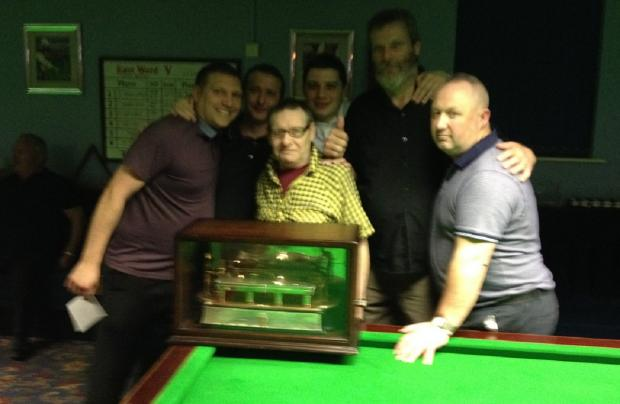 Upper Bolton Conservative Club A with the Hey's Trophy