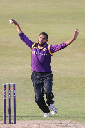 Adil Rashid was the pick of Yorkshire's bowlers with 3-14