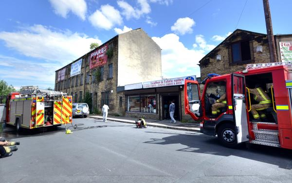 VIDEO: Firefighters battle Bradford furniture store blaze