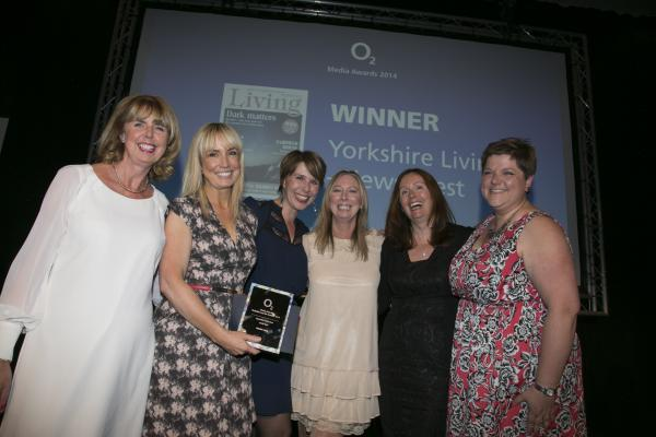 Receiving Yorkshire Living's award from Ann McC
