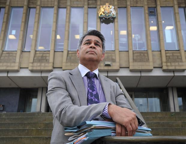 Bradford Telegraph and Argus: Solicitor Raj Kumar who is concerned about the number of legal aid cases being rejected