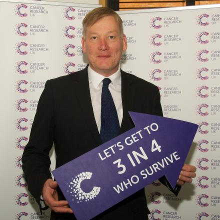 Keighley MP Kris Hopkins has given his support to Cancer Research UK