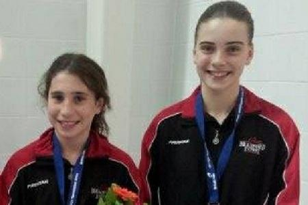 Ruby Bower, right, won bronze in Italy