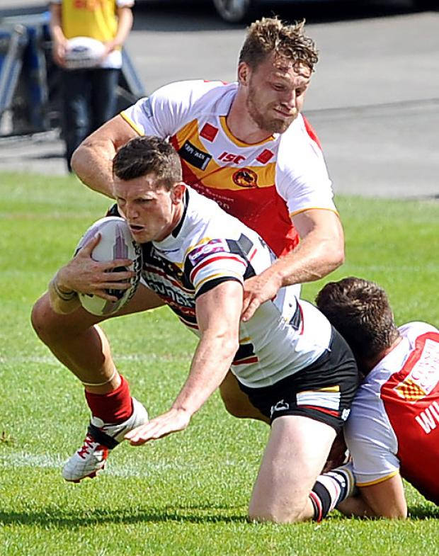 Bradford Telegraph and Argus: Lee Gaskell in action for the Bulls against Catalan at the weekend