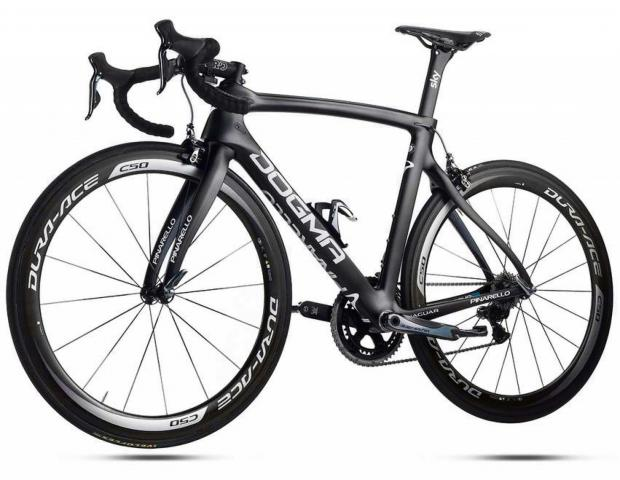 The Pinarello Dogma F8, worth £12,000,  stolen from a display in the window of the Paul Smith shop, Leeds.