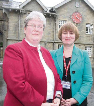 Aireville School's  new headteacher Wendy Hamilton with acting head Helen Woodcock. (7915548)