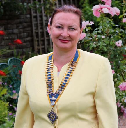 Janet Pickles, the new president of the Rotary Club of Keighley