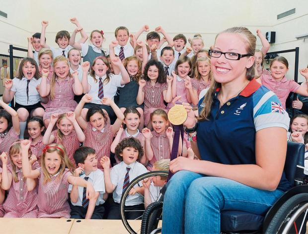 INSPIRATIONAL: Paralympian Hannah Cockroft who is to be awarded an honorary degree by Bradford University