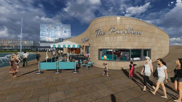 PLAN: An artist's impression of how the Pavilion will look as a cafe.