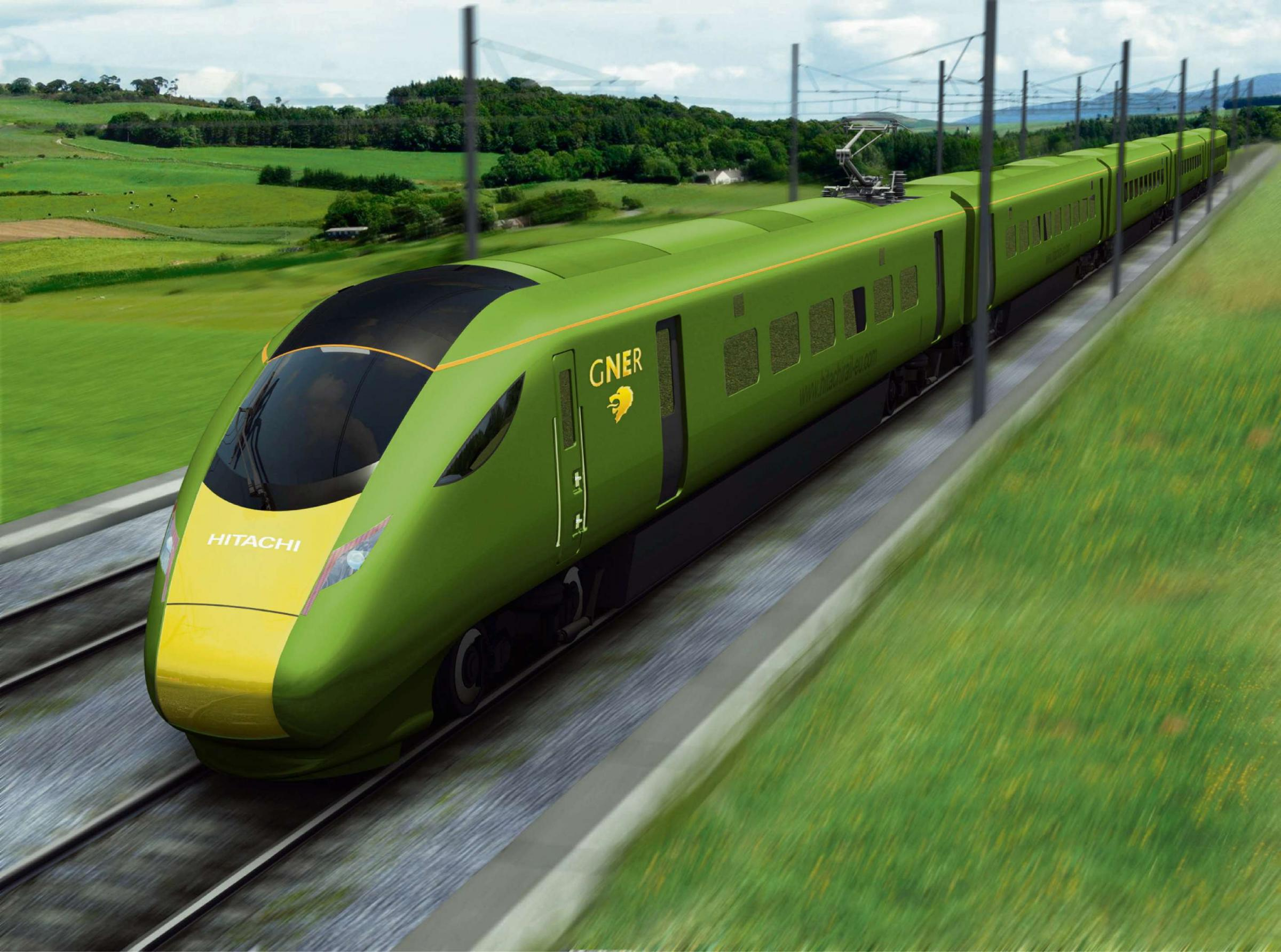RAIL BID: The proposed GNER rolling stock
