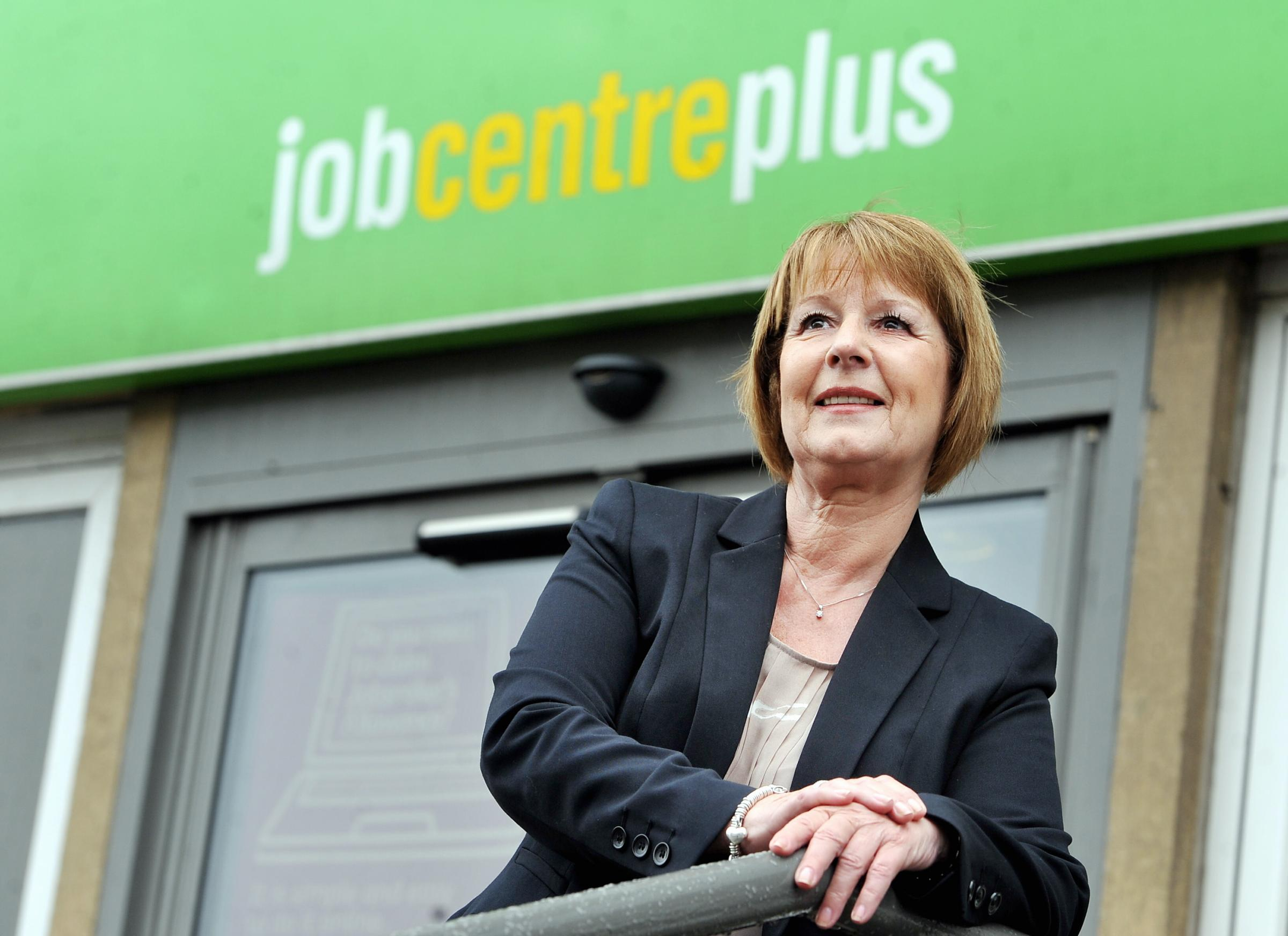 OPTIMISM: Diana Towler, employer and partnership manager for Bradford JobCentres, is encouraged by the fall in unemployment