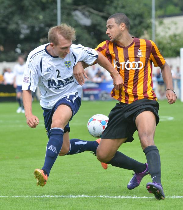 SCARE: James Meredith in action at Guiseley