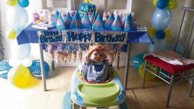 PARTY TIME: Jenson King celebrating his first birthday