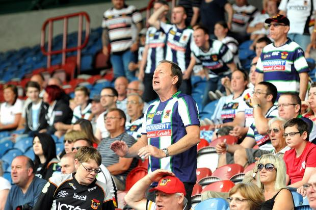 DEFEATED: Fans watching as Bradford Bulls were relegated.