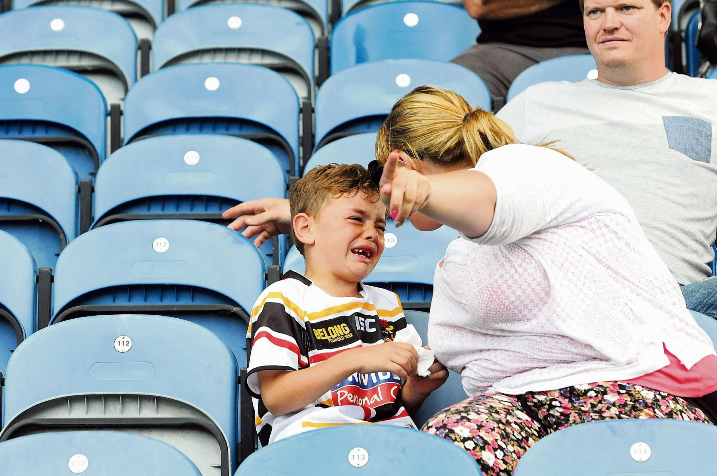 Emotions running high as the Bulls are relegated.