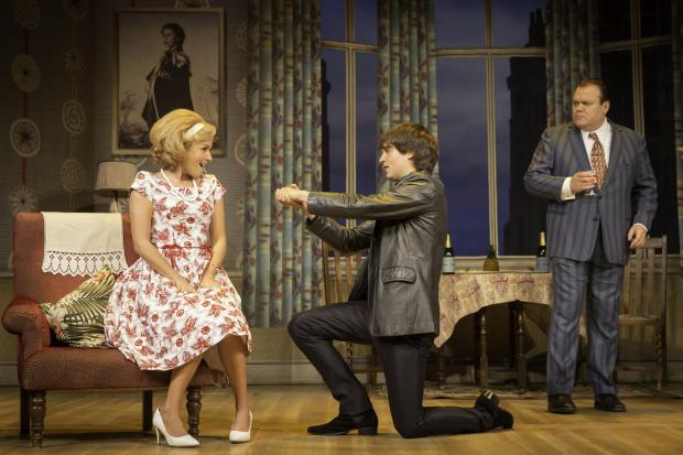 CAST: Jasmyn Banks (Pauline); Edward Hancock (Alan Dingle) and Shaun Williamson (Charlie Clench) in One Man Two Guvnors
