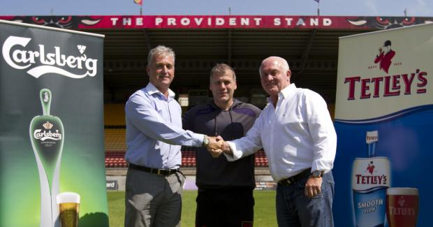 CHEERS: Bradford Bulls and Tetley's have joined forces for three years