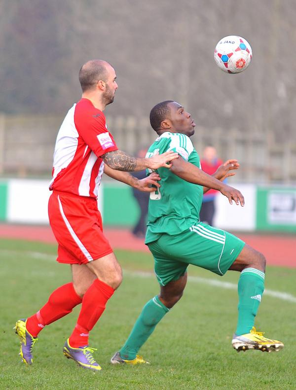 Chib Chilaka, right, was on target for Avenue