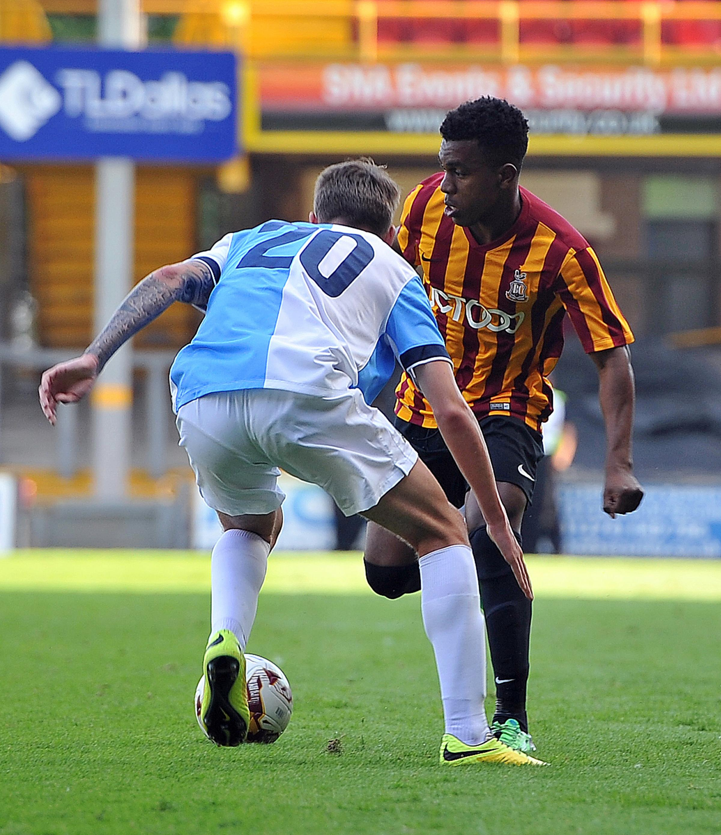 Bradford City trialists out to impress at Park Avenue