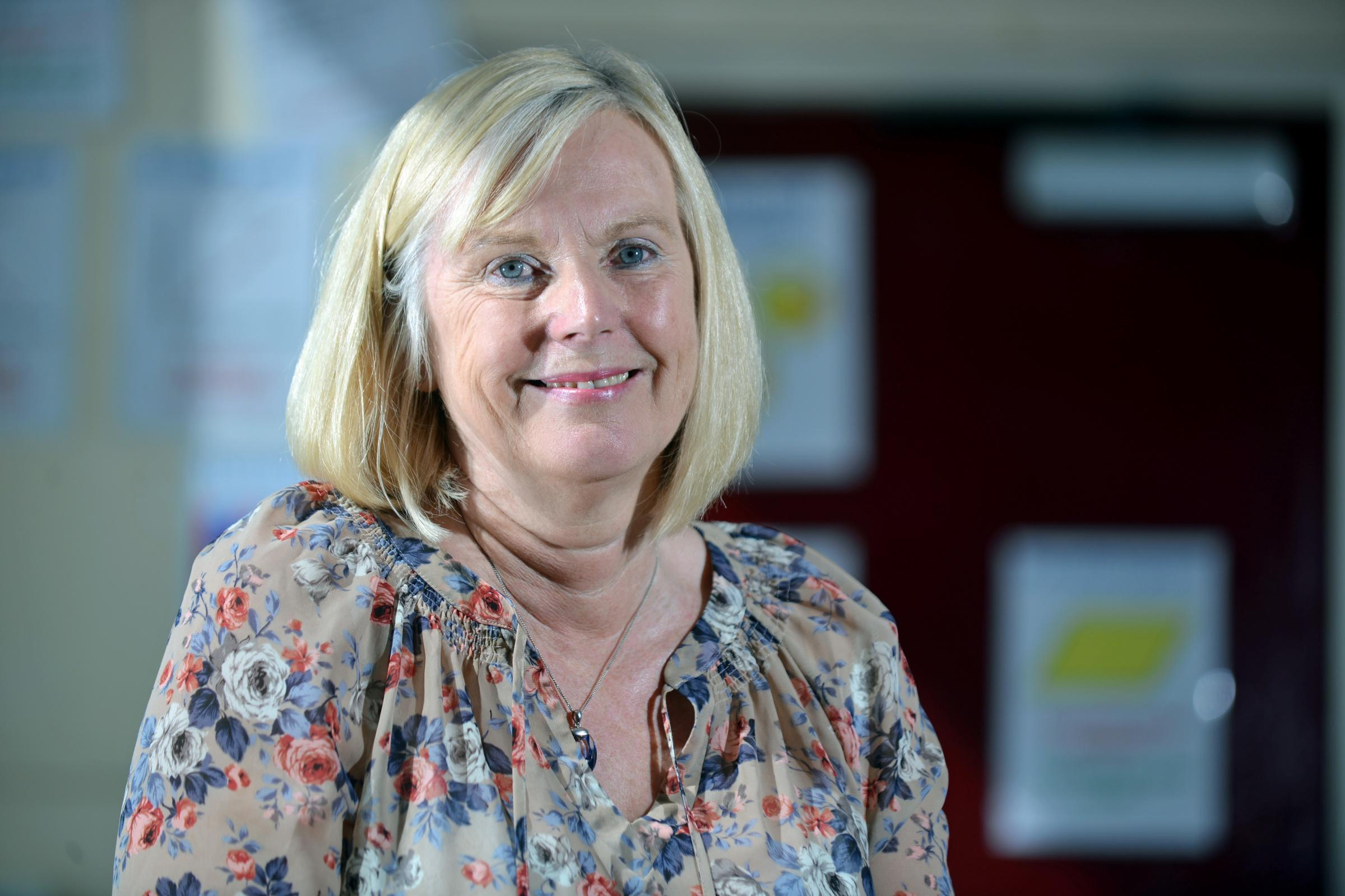 Pupils bid a fond farewell to Queensbury teacher Theresa after 41 years