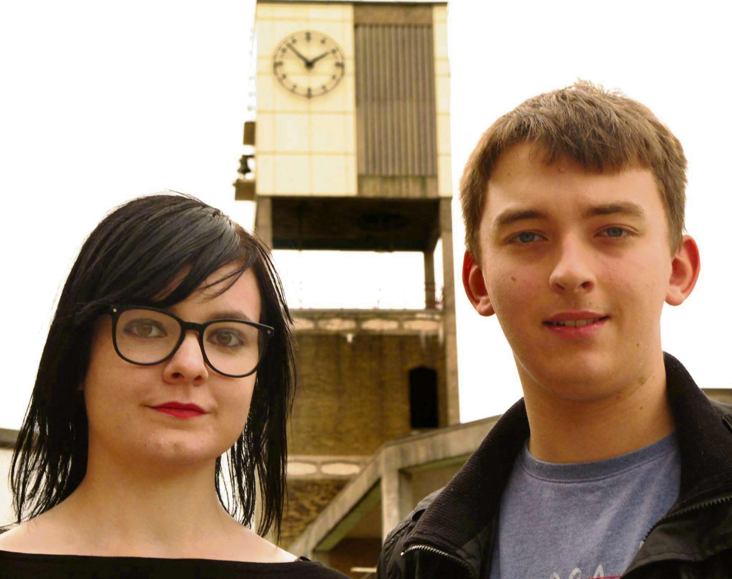 Megan Carson and James Slater, deputy editor and editor of The Local Leader