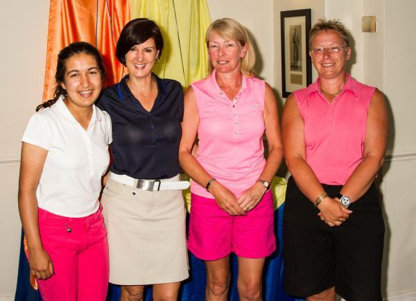 BRADFORD FINALISTS: From left, Hannah Chaudry, Lisa Foster, Lynda Ireland and Jayne Helliwell at Northcliffe Golf Club