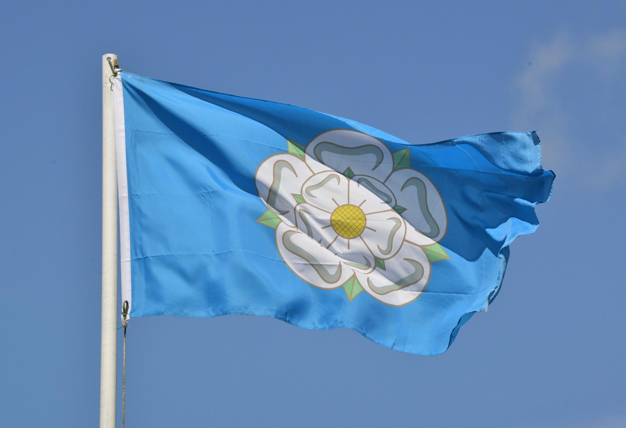 The Yorkshire White Rose Flag