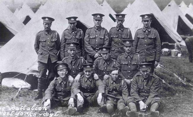 Soldiers from the Second Bradford Pals battalion