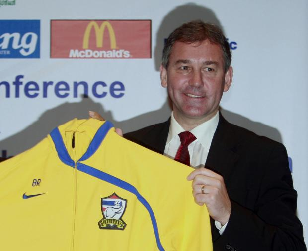 Bryan Robson during his spell as coach of Thailand