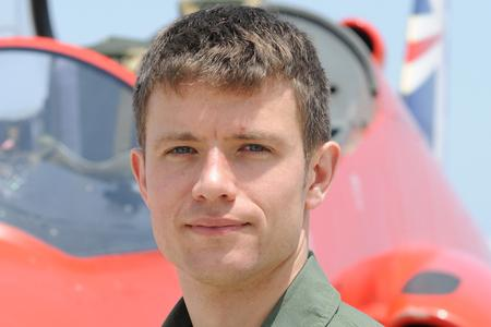 Flight Lieutenant Thomas Bould who is joining the Red Arr