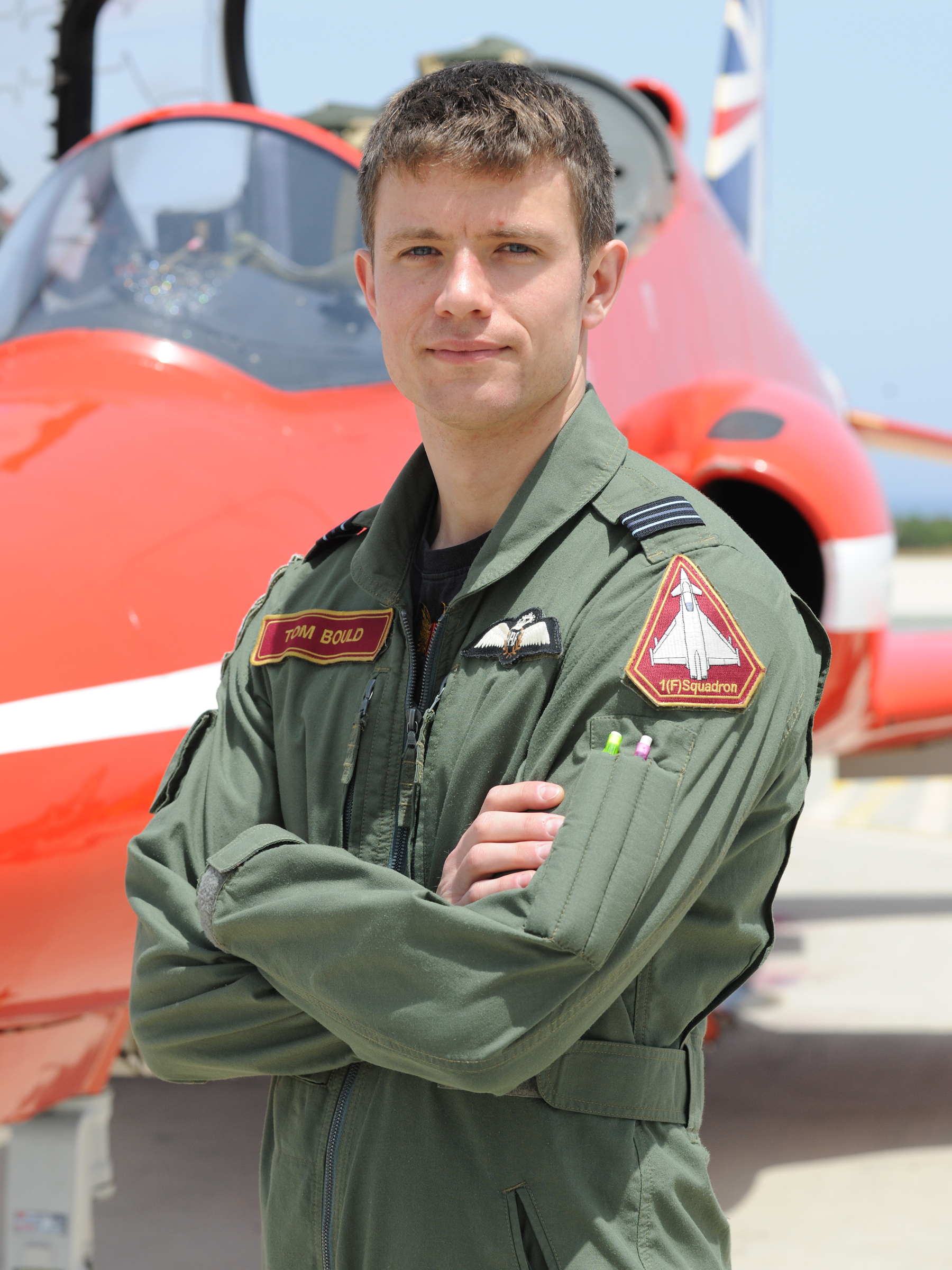 Flight Lieutenant Thomas Bould who is joining the Red Arrows in time for the 2015 season.