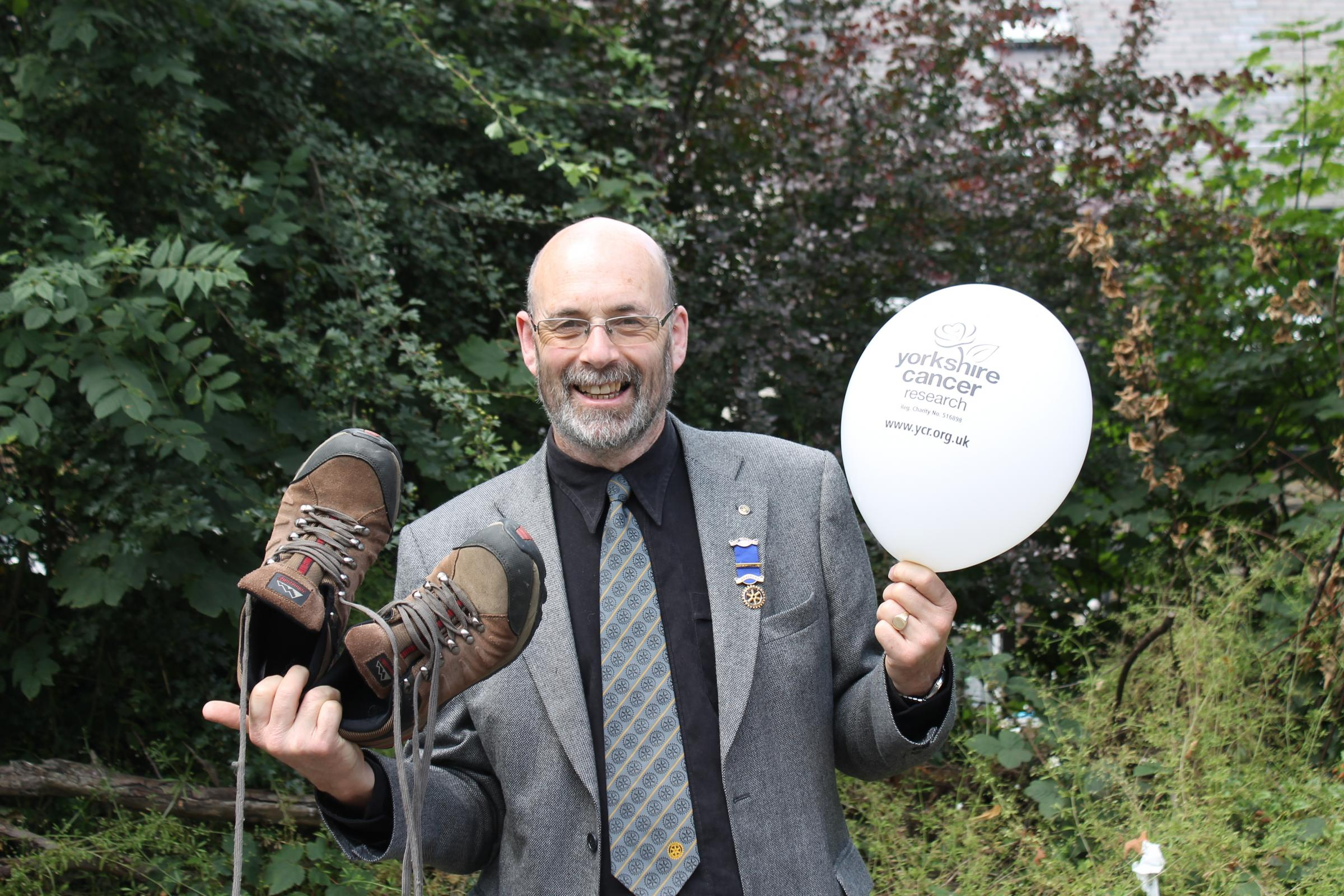John puts best foot forward to raise cash for T&A Crocus Appeal