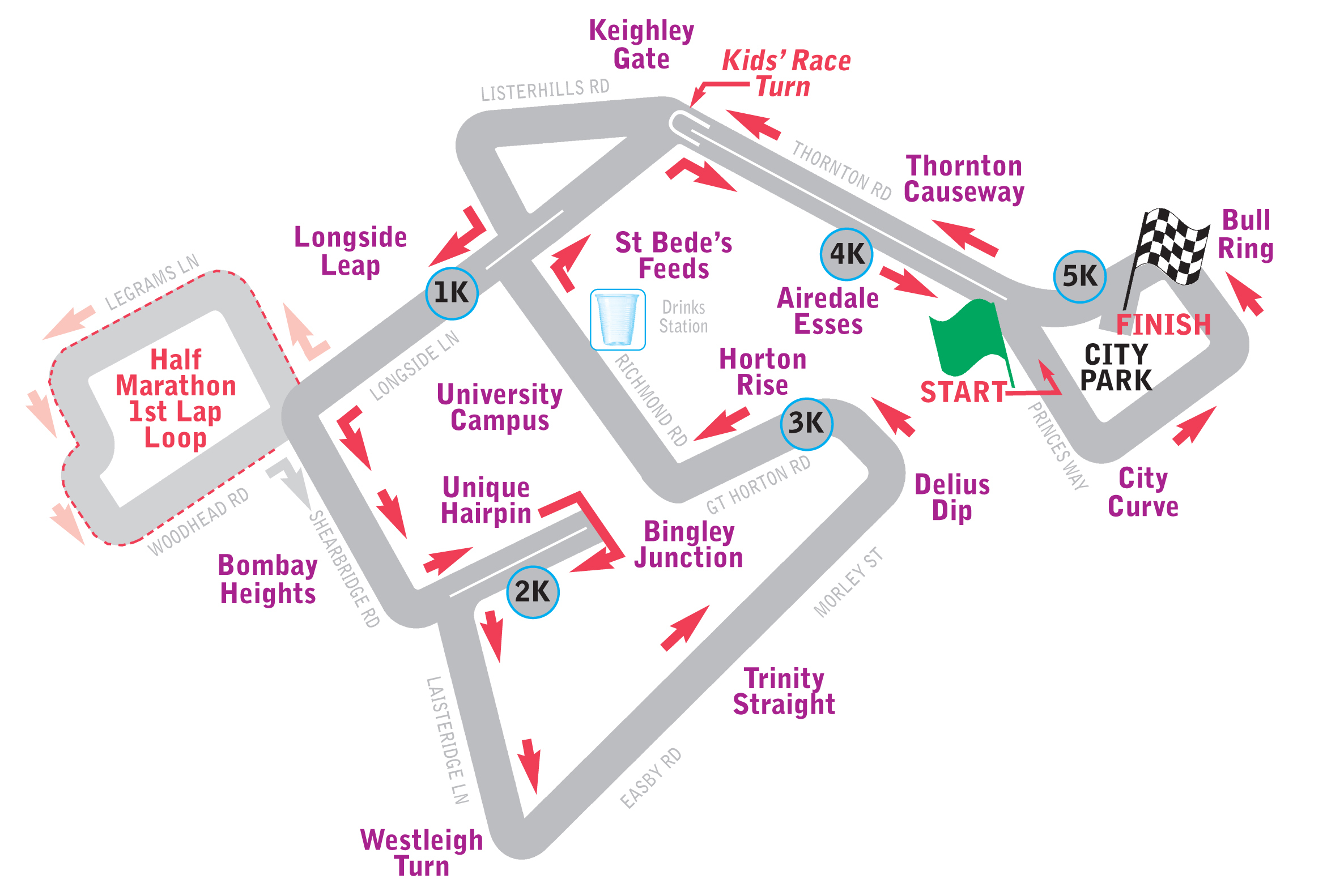 Bradford Telegraph and Argus: City Run 2014 route map