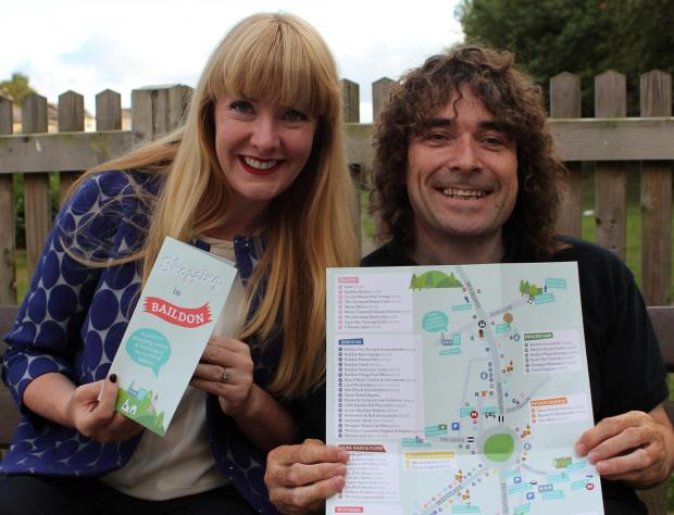 Creators Matthew Wildman and Sara Mogford with a copy of the Baildon guide