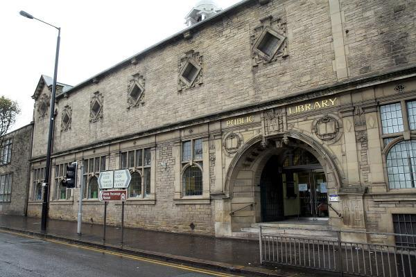 Keighley Library which is owed £18,800 in unpaid fines by lenders