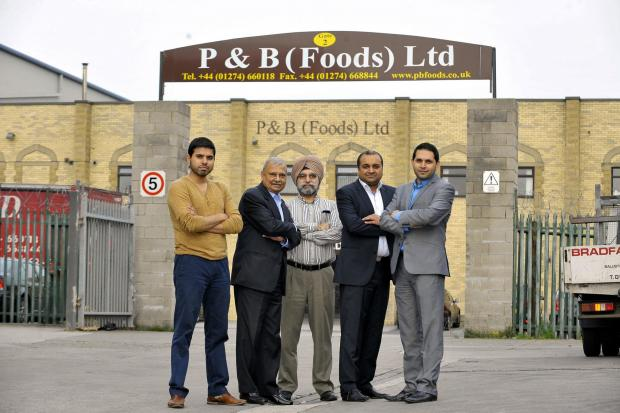 From left, Indie Bhatoa, Thakorbhai Patel, Mohinder Singh Bhatoa, Chandra Patel and Mani Bhatoa for P&B Foods