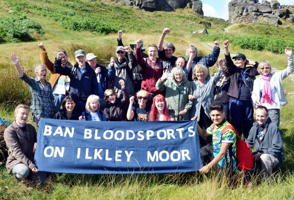 The protest on Ilkley Moor against bloodsports